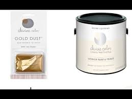 devine color gold dust and white paint youtube