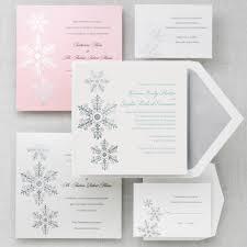 sparkling snowflake wedding invitation winter wedding invitations