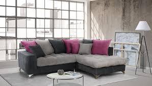 canapé gris foncé canapé d angle à droite corfu gris clair gris foncé