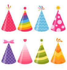 party hats birthday party hats set royalty free vector image