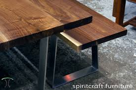 modern timber dining tables custom solid hardwood table tops live edge slabs