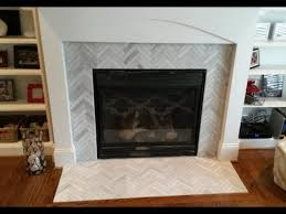 Mosaic Tile Fireplace Surround by Fireplace Surround Makeover 1 X 6 Ascend Chevron Honed Tiles