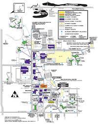 University Of Illinois Campus Map parking community music western illinois university