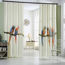 Fitting Room Curtains Aliexpress Com Buy Parrot Blackout Curtains 3d Digital Printing