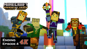 minecraft story mode season one episode 4 ending took down a