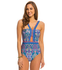 laundry by shelli segal laundry by shelli segal swimwear pretty partridge cut out one