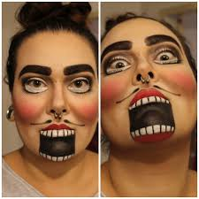 diy halloween face paint nutcracker costume black red white