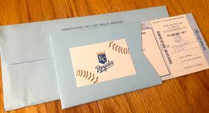 wedding invitations kansas city kc royals themed baseball ticket wedding invitations lepenn