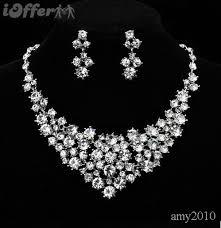 diamond necklace earring set images Hh best luxury diamond starry necklace earring set for sale jpg