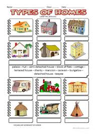 35 free esl homes worksheets