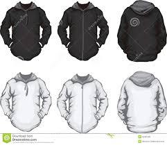 black white men u0027s hoodie sweatshirt template royalty free stock