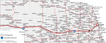 road map of iowa usa map of nebraska cities nebraska road map