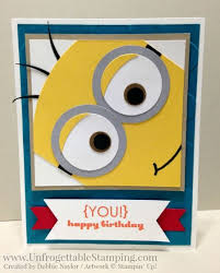 image result for birthday card ideas stin up minion card