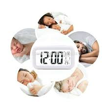 Bling Alarm Clock Digital Transparent Lcd Alarm Clock Temperature Snooze Light