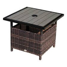 Wicker Accent Table Patio Tables Outdoor Tables Kmart