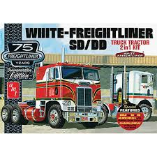 kenworth cabover history new amt 1 25 white freightliner 2 in 1 sc dd cabover amt1046 12 ebay