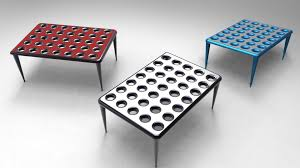 Table Cup Holder Solo Cup Coffee Table Solid Edge Stl 3d Cad Model Grabcad