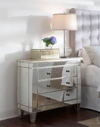 Mirrored Bedside Tables Catchy White Bedroom Focused On Mirrored Bedside Table With Pull