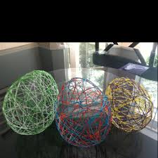 craft made out of elmer s glue string and balloons you can