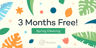 Springcleaning Join Our Productivity Spring Cleaning And Get 3 Extra Months Of Nozbe