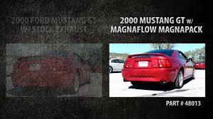 magnaflow vs flowmaster mustang magnaflow magnapack vs stock exhaust 1999 2004 ford mustang gt