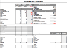 household monthly budget template free iwork templates