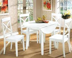 round drop leaf table and 4 chairs excellent white drop leaf kitchen table boldventure info