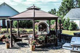 pergolas and gazebos by premier wall systems stucco and stone