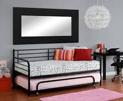 dhp separate trundle for metal daybed frame images on cool black