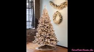 flocked christmas trees artificial youtube