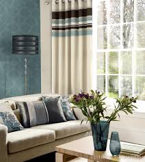 yale duck egg blue striped eyelet curtain duck egg blue brown