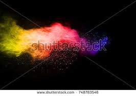 colorful paint explosion vector illustration color stock vector