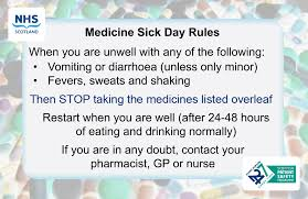 cards for the sick medicine sick day card