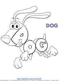 wordworld printable coloring pages dog pbskids