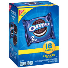 nabisco oreo chocolate sandwich cookies 0 78 oz 18 ct walmart com