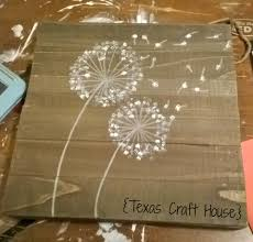how to paint a dandelion texas craft house