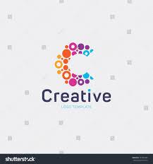 creative logo design letter c logo stok vektör 327405464