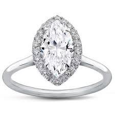 plain band engagement ring plain band marquise halo engagement setting r3012