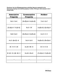 ideas of properties of operations worksheets also sheets