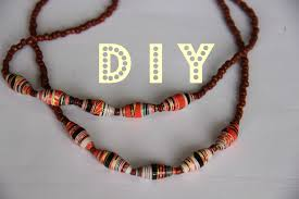 beads design necklace images Paper beads necklace tutorial jpg