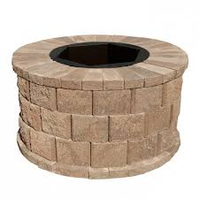 Square Fire Pit Kit by Inspiring Pavestone Splitrock 385 In W X 105 In H Square Fire Pit