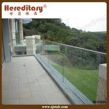 Frameless Glass Handrail China Frameless Glass Railing For Balcony Glass Balustrade Sj