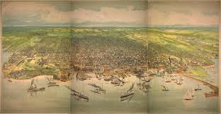 Map Of Toronto And New York by A Bird U0027s Eye View Of Toronto Growth Since 1879