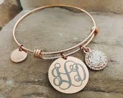 monogrammed bracelets monogrammed bracelet etsy