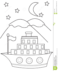 ship coloring page stock illustration image 50541765