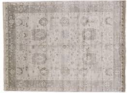 oushak hand knotted wool area rug from india 9 u0027 x 11 u0027 11