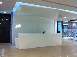 Commercial Reception Desks by Corian Commercial Installs Pennywell
