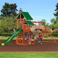 exterior awesome swing sets clearance ideas with grass spread and