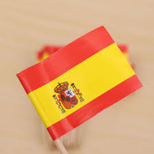 aliexpress com buy lovely paper mini spain flag picks party food