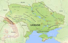 ukraine map ukraine physical map